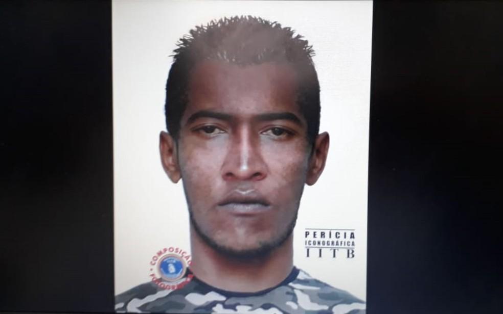 Polícia Civil divulga retrato falado de suspeito de agulhadas durante o carnaval no Grande Recife — Foto: Danilo César/TV Globo