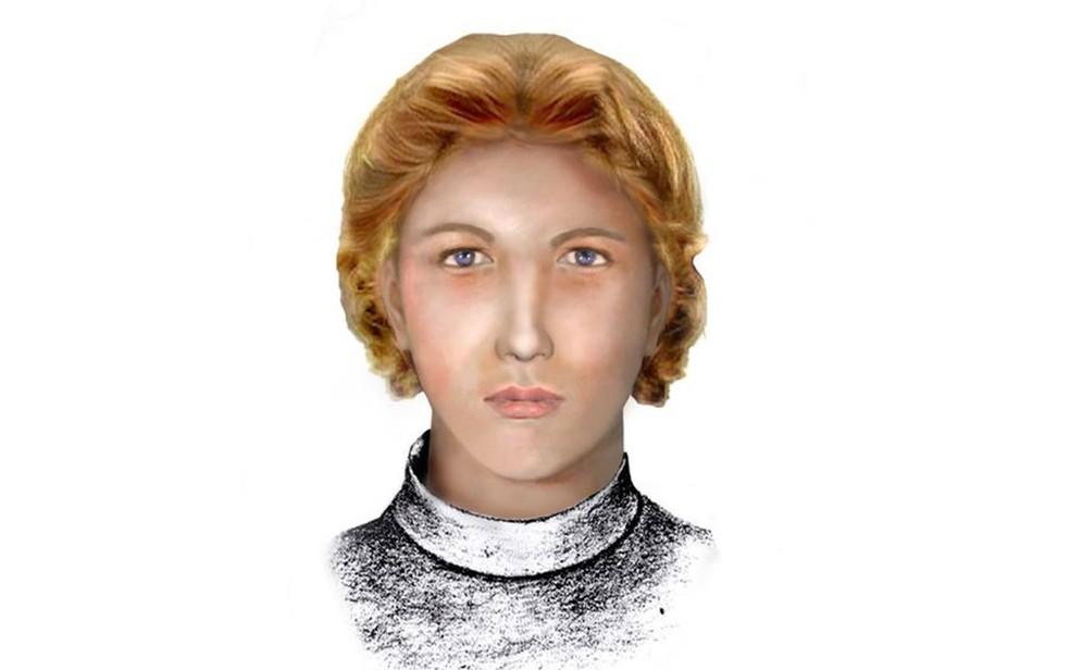 Reconstituição feita pela polícia de Cuba mostra como pode ter sido o rostro de Enriqueta Favez (Foto: Cortesia/Julio César González Pagés)