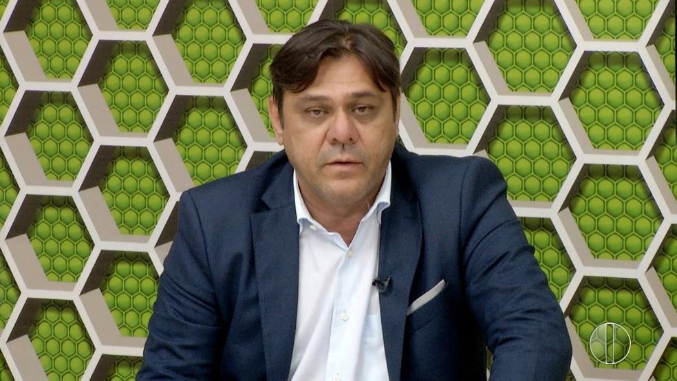 Eduardo Rocha é o único candidato à presidência do América-RN (Foto: Reprodução/Inter TV Cabugi)