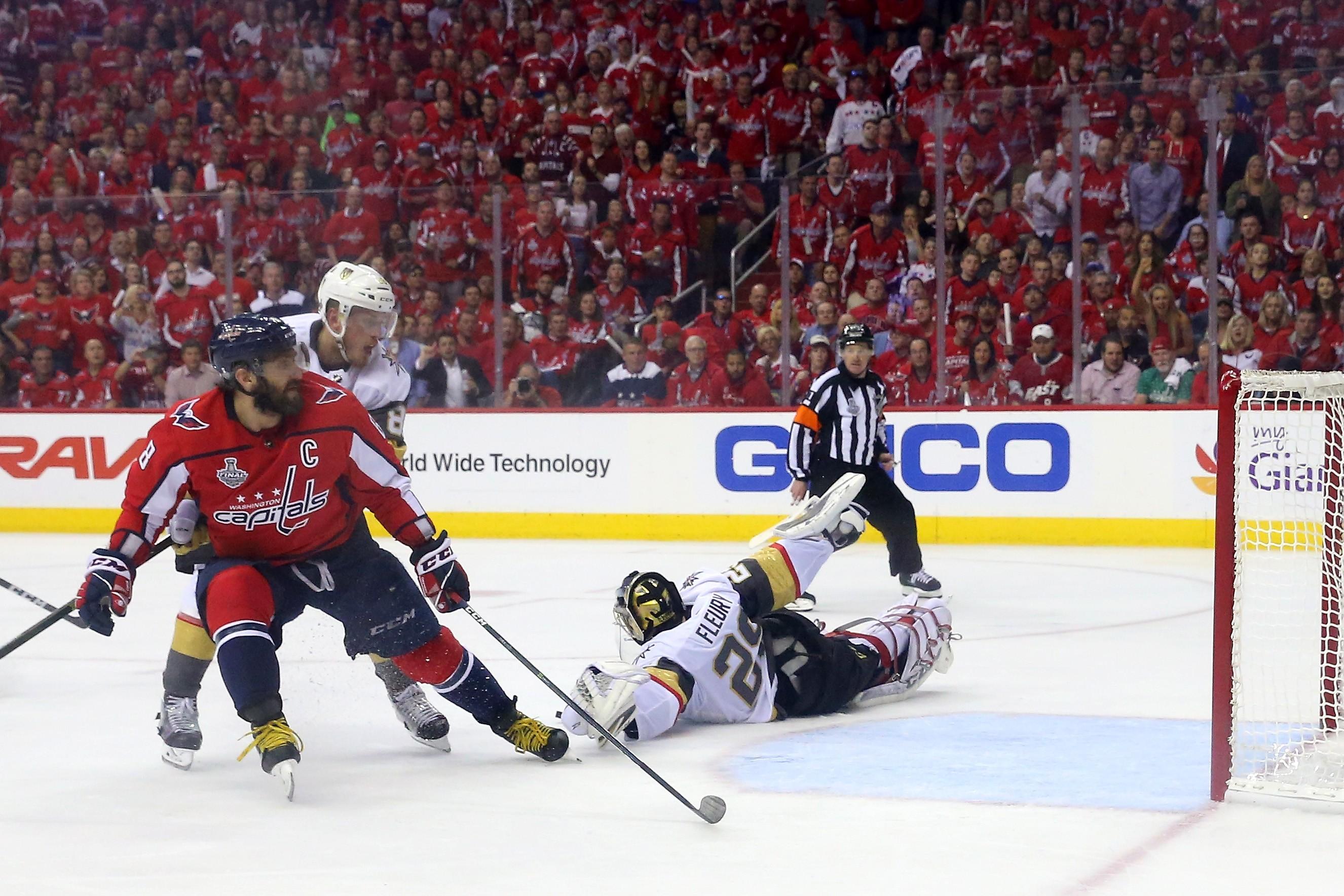 Uma foto da final da NHL 2018, vencida pelos Capitals (Foto: Getty Images)