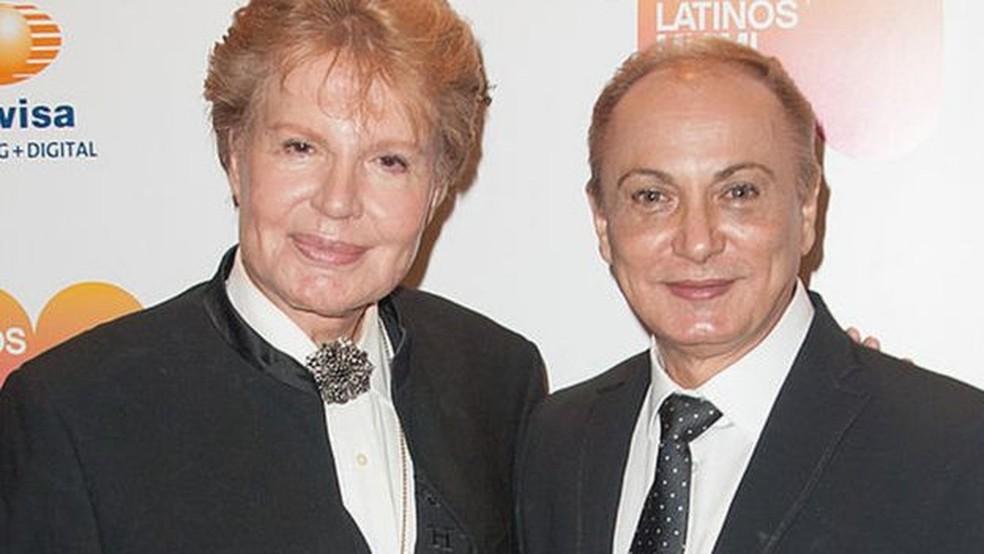 Walter Mercado junto com Willie Acosta. — Foto: Getty Images via BBC