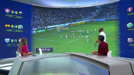 Grafite mostra análise tática do gol da vitória do Juventude