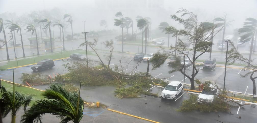 Furacão Maria em Porto Rico (Foto: Hector Retamal / AFP Photo)