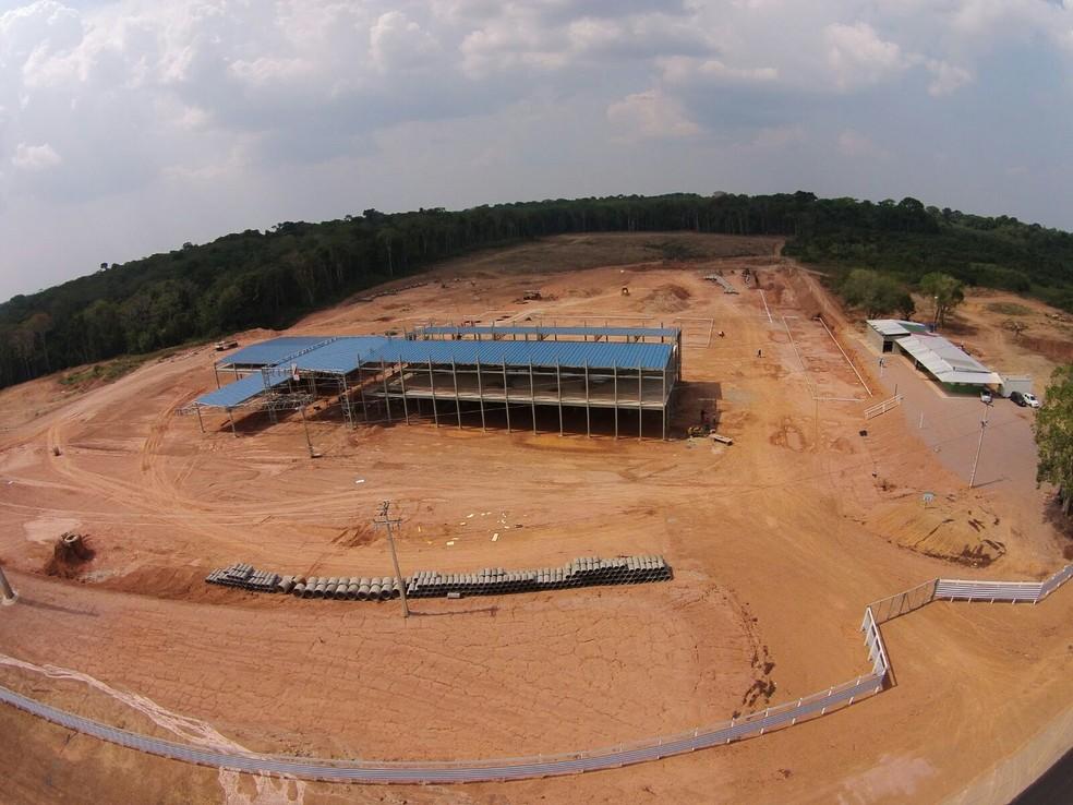 Foto mostra construção do hospital em Porto Velho (Foto: Assessoria/Divulgação)