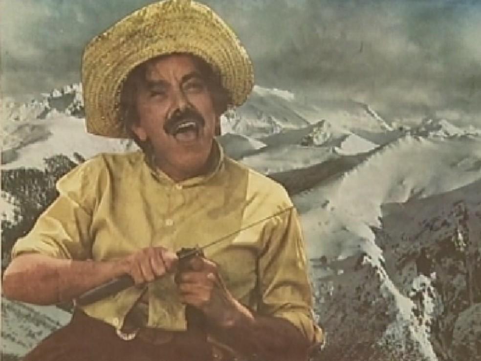 Mazzaropi foi o primeiro humorista a se apresentar na televisão brasileira — Foto: Reprodução/TV TEM