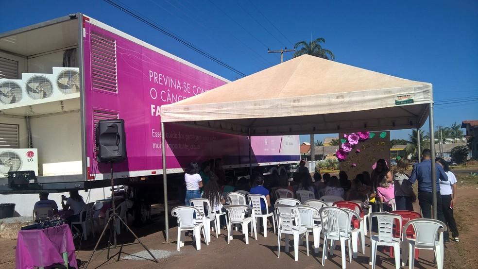 Carreta do Hospital de Câncer está em Aracaju — Foto: Magda Oliveira/G1/Arquivo