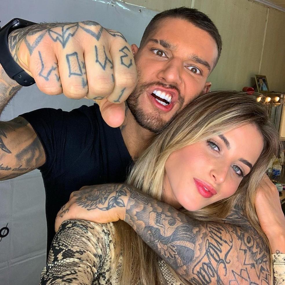 Lucas Lucco e Lorena Carvalho se conheceram em 2013 — Foto: Reprodução/Internet