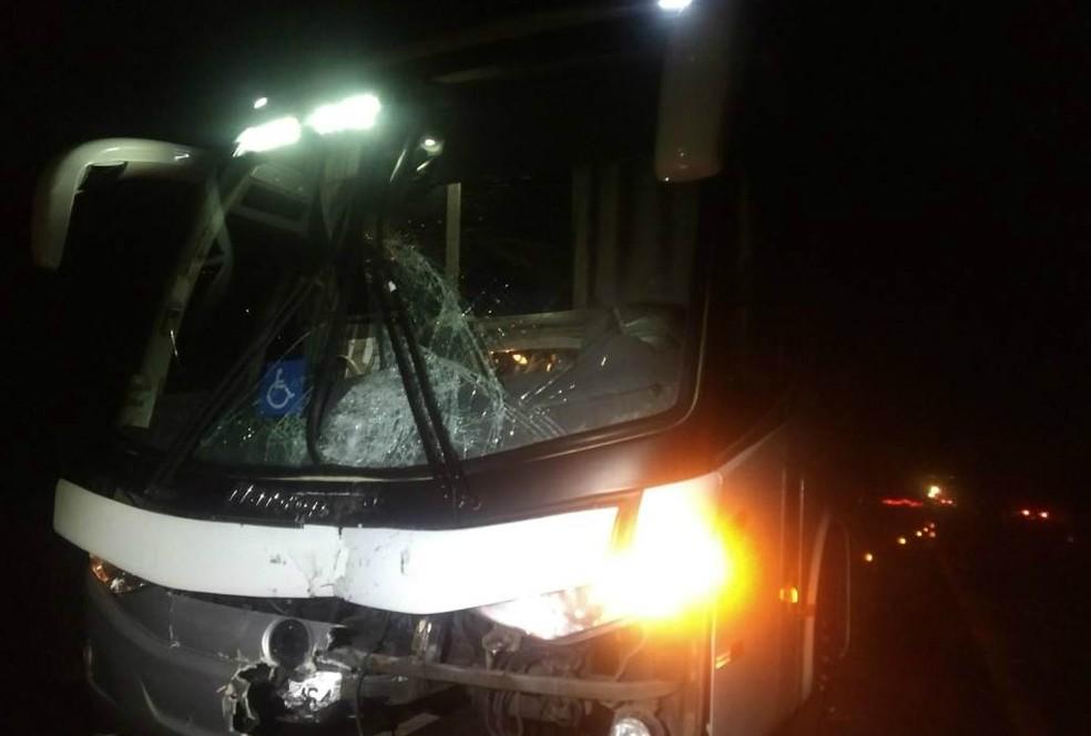 Motociclista morre após bater contra ônibus em Araraquara — Foto: Gabriela Martins/ACidadeON/Araraquara