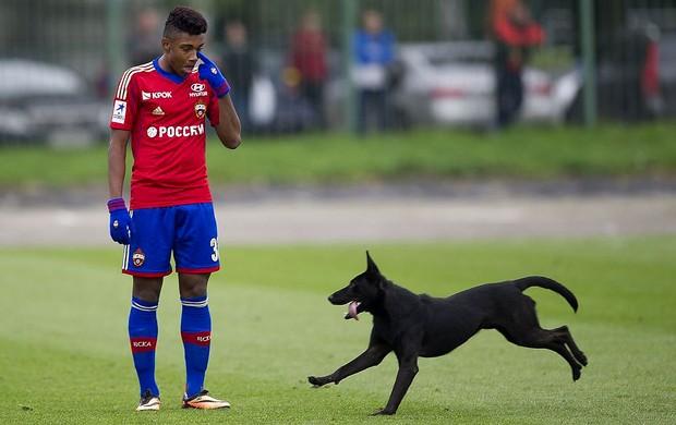 Vitinho cska estreia amistoso cachorro (Foto: reprodução / football.sport-express.ru)