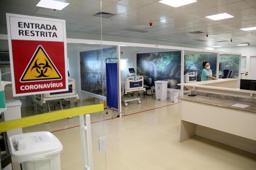 Relatório da Sesa revela em quais cidades e hospitais há leitos pediátricos e adultos para tratamento da Covid-19 — Foto: Ari Dias/AEN