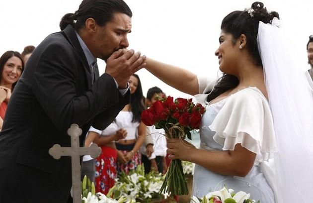 Gracinha (Daniela Fontan) não sossegou enquanto não conquistou Pedro (André Gonçalves) em 'Amor eterno amor' (Foto: TV Globo)