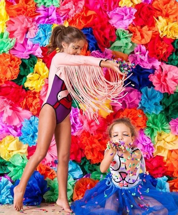 Que tal uma parede toda colorida para fotos divertidas? (Foto: Pinterest/ Reprodução)