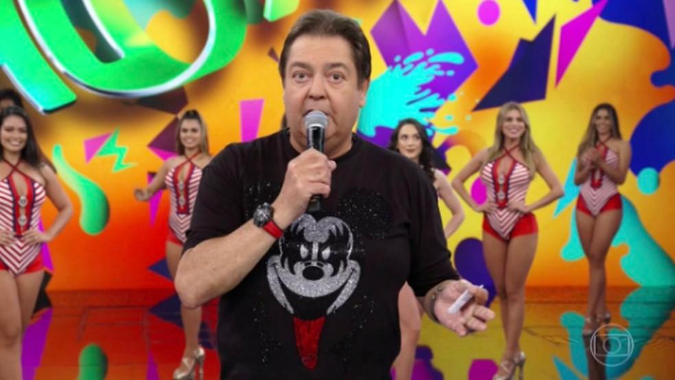 Faustão arrasou na produção para o primeiro Domingão de março — Foto: TV Globo