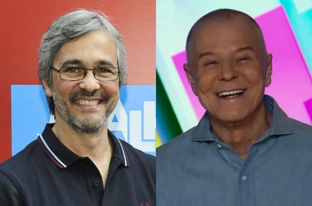 Paulo Silvestrini e Miguel Falabella (Foto: TV Globo e reprodução)