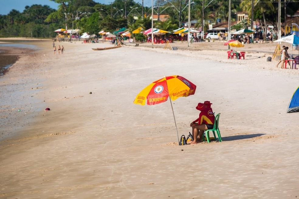 Praia do Caripi, Barcarena, Pará — Foto: Divulgação/Ascom Barcarena