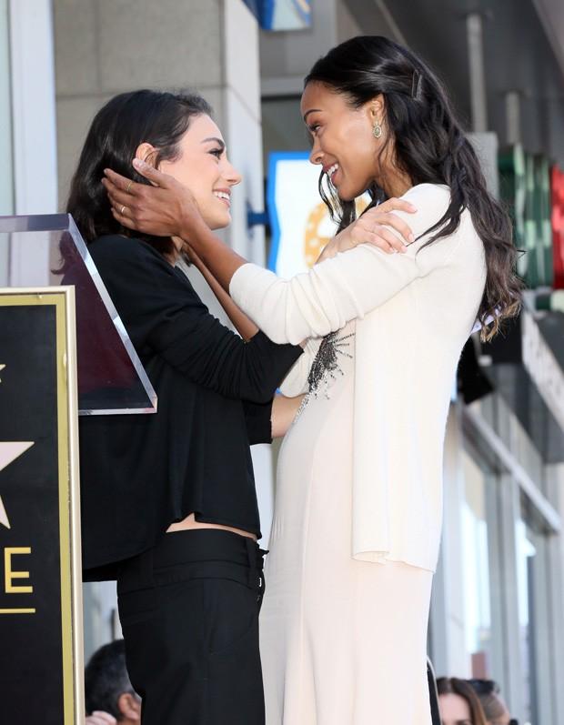 Zoe Saldana e Mila Kunis (Foto: Getty Images)