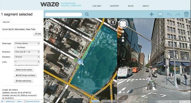 Aplicativo do Waze começará a mostrar imagens do Google Street View e a barra de buscas. (Foto: Divulgação)