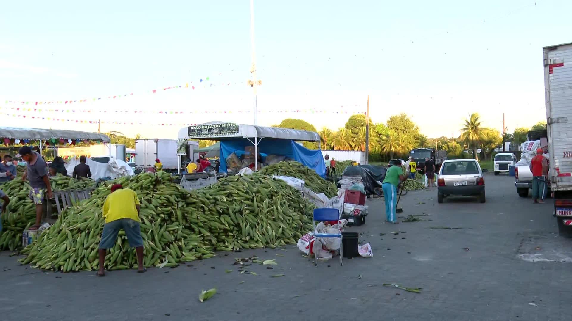 Ceasa faz plantão 24 horas para vender milho para o São João