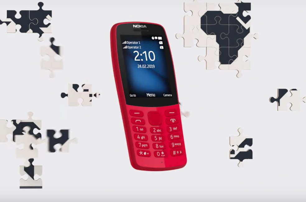 Nokia 210 remete aos celulares antigos da empresa — Foto: Divulgação/Nokia