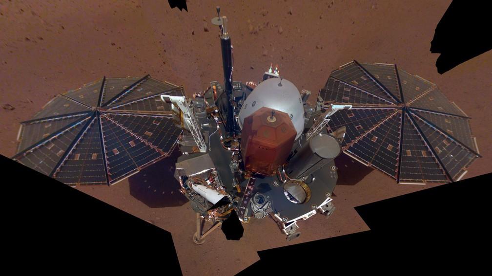 Insight Mars registra a primeira 'selfie' no planeta vermelho — Foto: Nasa/JPL-Caltech