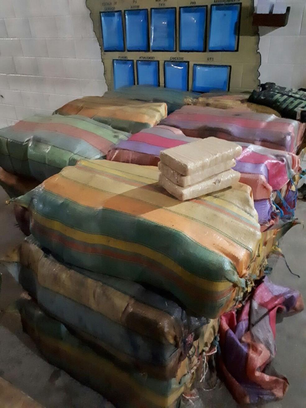 Drogas apreendidas pelo Exército  (Foto: Exército/Divulgação)