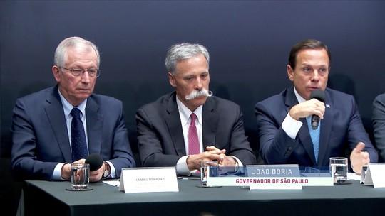Doria ironiza Deodoro, desmente Bolsonaro e diz que vai defender a manutenção da F1 em Interlagos