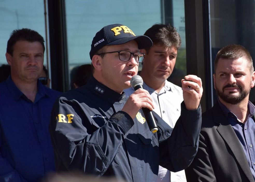 O novo diretor-geral da Polícia Rodoviária Federal, Adriano Marcos Furtado, em imagem de 6 de setembro — Foto: Polícia Rodoviária Federal / Divulgação