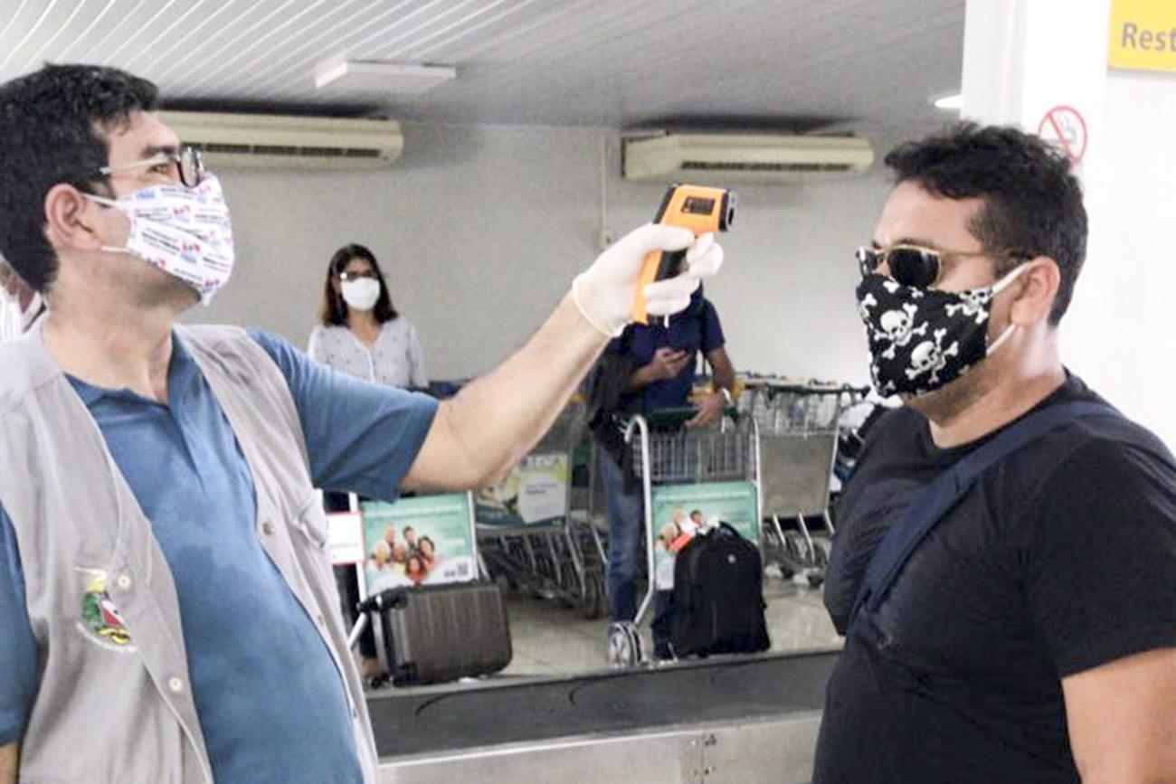 Sespa realiza monitoramento e controle da Covid-19 no aeroporto de Altamira, no PA