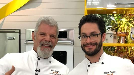 Rainer Cadete e Raul Gazolla estão na 3ª Panela de Pressão do 'Super Chef'