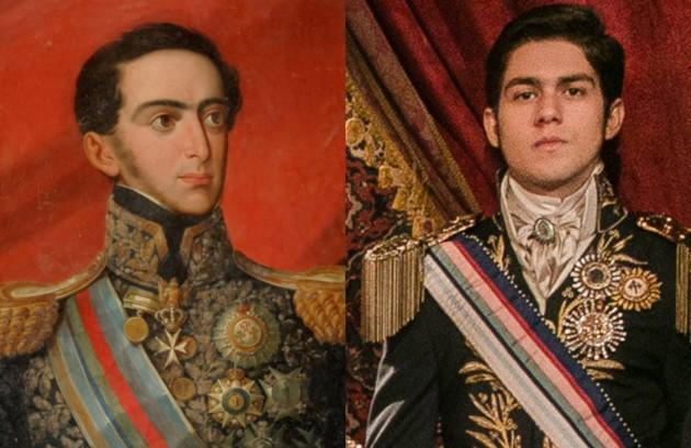 Miguel (Daniel Rangel): irmão de Dom Pedro (Caio Castro), filho de Carlota Joaquina e Dom João (Foto: Reprodução e TV Globo)