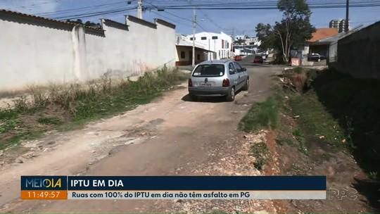 Ruas com 100% do IPTU em dia não têm asfalto em Ponta Grossa