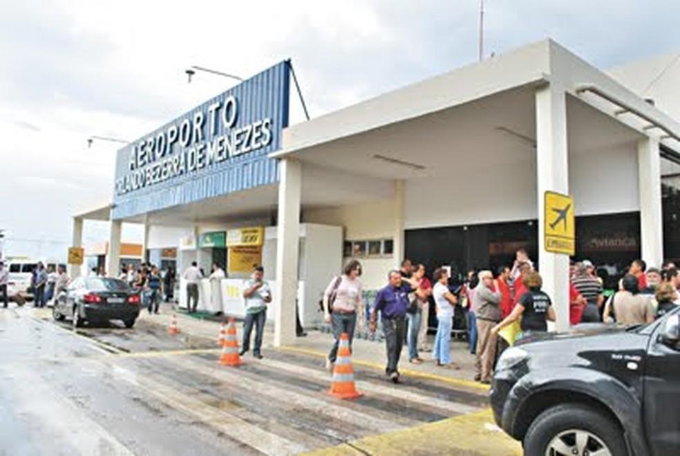 Aeroporto Orlando Bezerra de Menezes, em Juazeiro do Norte (Foto: Agência Diário)