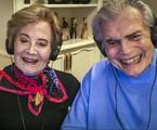 Glória Menezes e Tarcísio Meira no 'Altas horas' em agosto | TV Globo