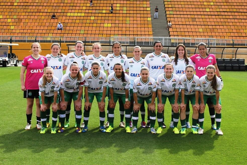 Time feminino da Chapecoense da temporada passada — Foto: Divulgação/Chapecoense