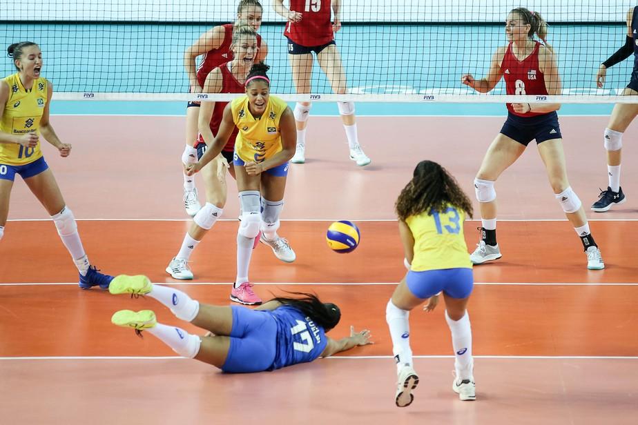 Brasil cai para EUA e perde a chance de assumir a ponta da Liga das Nações