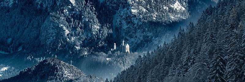 Dirk Vonten, da Alemanha, registrou o Castelo Neuschwainstein no inverno (Foto: Architectural Photography Awards/Reprodução)