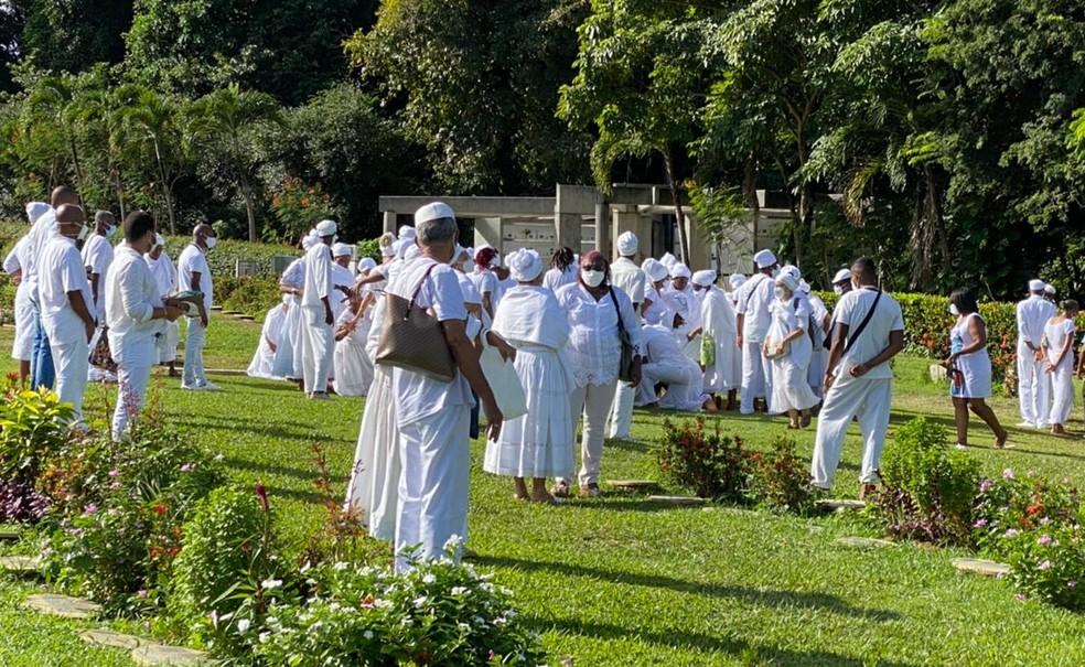 Mãe Cotinha foi enterrada no Cemitério Bosque da Paz, em Salvador — Foto: Divulgação/Casa de Oxumarê
