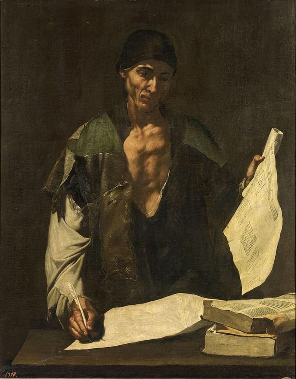 Foi assim que o pintor espanhol José de Ribera (1591-1652) imaginou Arquimedes — Foto: GETTY IMAGES via BBC