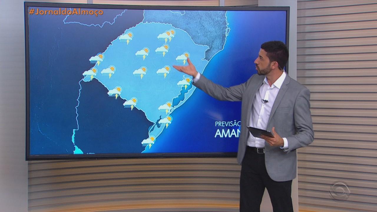 Quinta-feira (4) deve ser de chuva na maior parte do RS