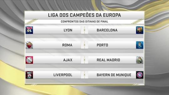 Seleção debate confrontos da Liga dos Campeões da Europa