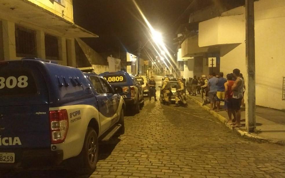 Moradores relataram pânico durante ataque de bandidos — Foto: 21ª Coorpin de Itapetinga