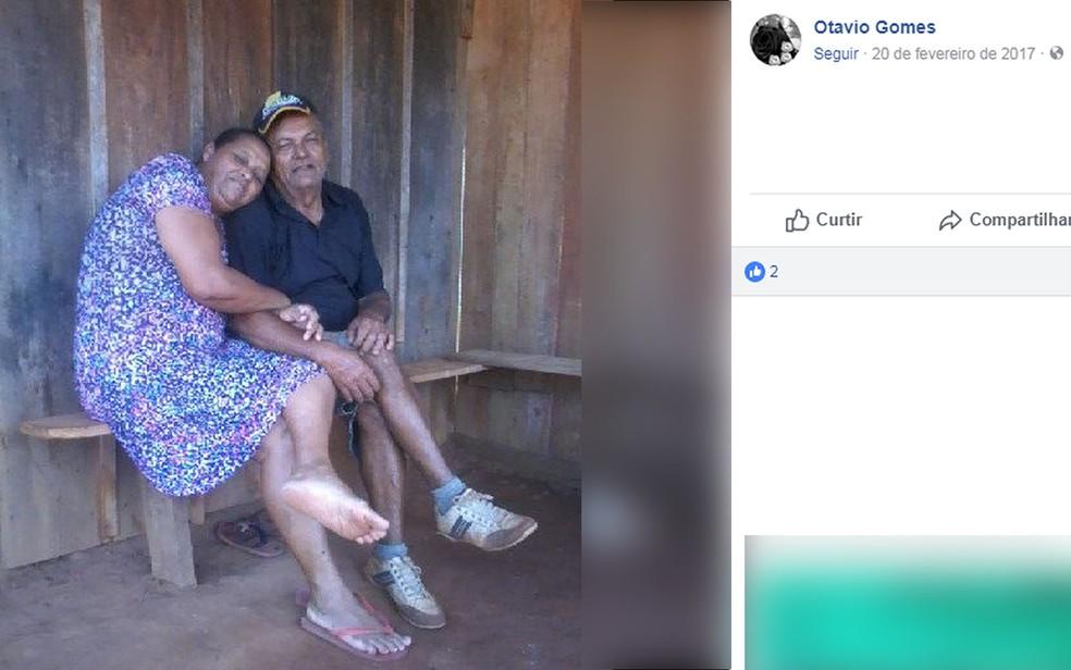 Francisco Nogueira Lima, de 48 anos, e Lidia dos Santos Silva, de 54 anos (Foto: Facebook/Reprodução)