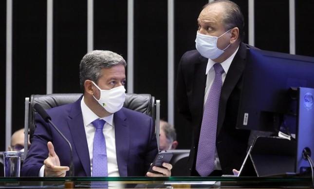 Arthur Lira, presidente da Câmara, e o líder do governo, Ricardo Barros
