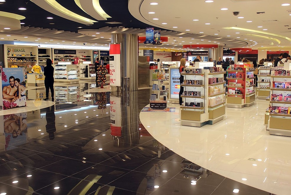Free shop no Aeroporto Internacional de Viracopos, em Campinas — Foto: Bruna Freitas/Aeroporto Internacional de Viracopos