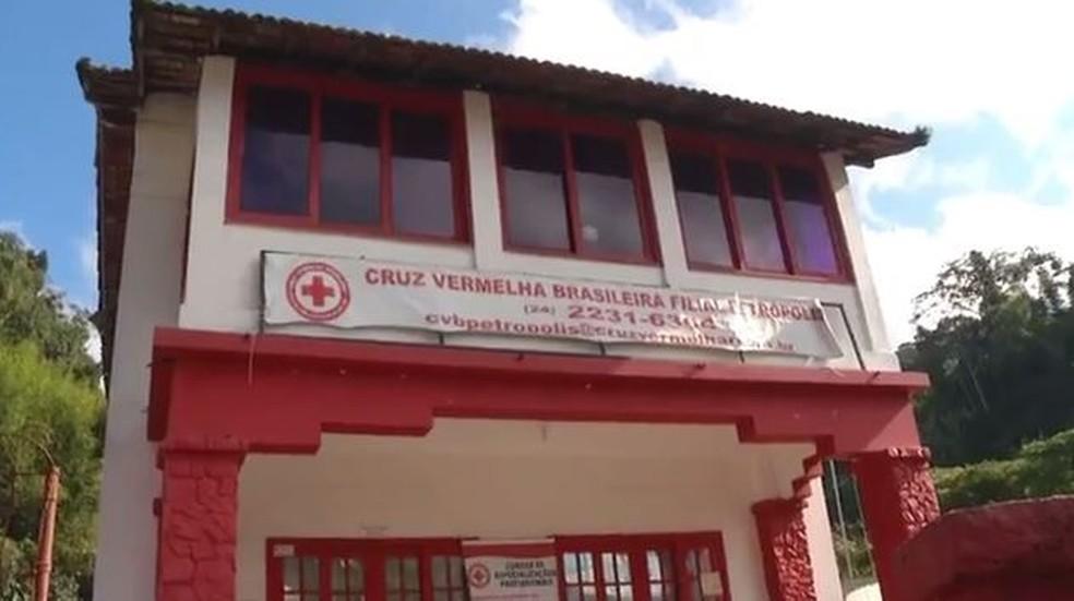 Sede da Cruz Vermelha de Petrópolis em imagem de arquivo (Foto: TV Globo/Reprodução)