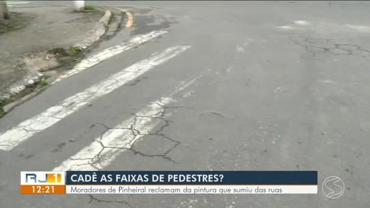 Moradores de Pinheiral reclamam da falta de faixas de pedestre