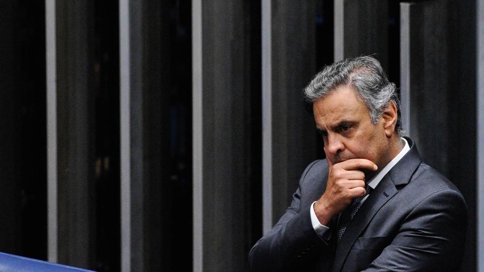O senador Aécio Neves (PSDB-MG), em foto de novembro de 2017 — Foto: Marcos Oliveira/Agência Senado/Arquivo
