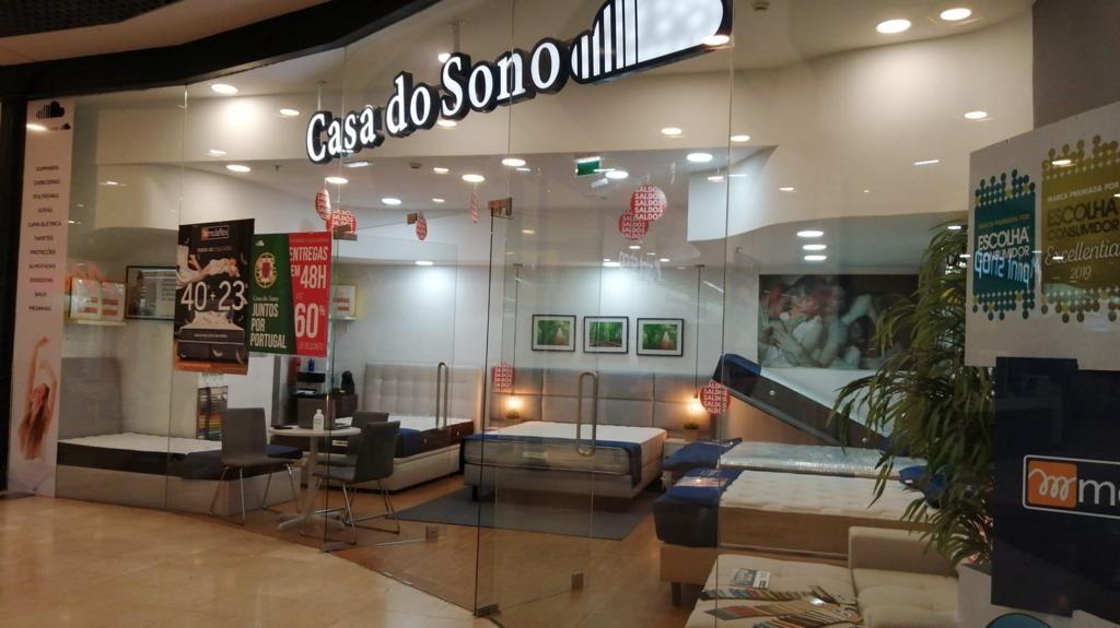 Filial da Casa do Sono em um shopping do Porto, em Portugal