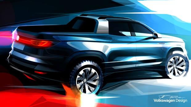 Volkswagen apresenta picape conceito inédita no Salão do Automóvel (Foto: Divulgação)