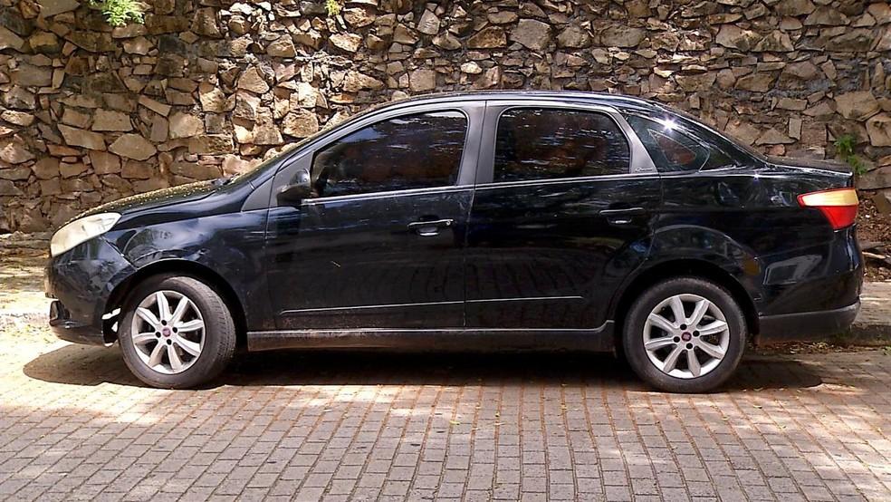 Carro usado pelo motorista de aplicativo foi encontrado no sábado (3). — Foto: Ayrton Freire/Inter TV Cabugi